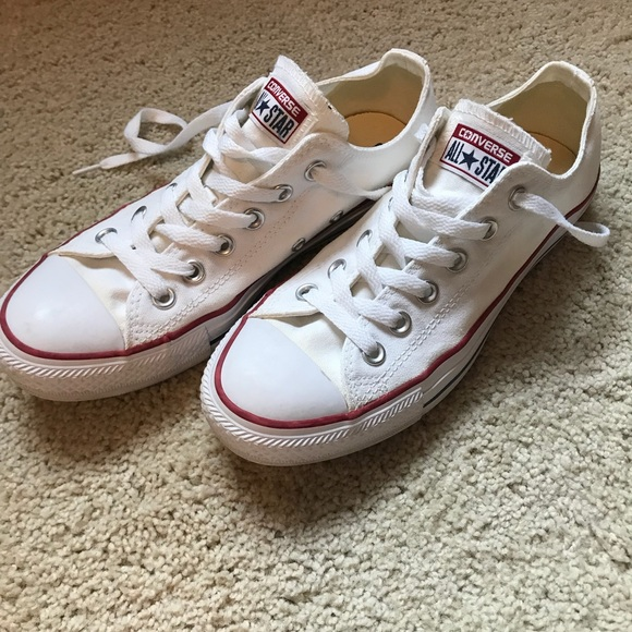 eb2987a4af04 Converse Shoes - Classic White Converse with Red and Blue Stripes